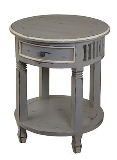 painted side table, maybe not distressed though