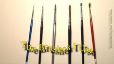 The watercolour brushes I prefer to use An insight into the brushes that I prefer to use for my watercolour paintings of realistic wildlife.  I don't use many and they don't cost a fortune, but it is really important that you are comfortable with your painting equipment and find your own favourites. #watercolourbrushes #watercolorbrushes #watercolorbrush #watercolourbrush #paintingsupplies #paintingequipment #rosemaryandco #detailbrush #details Watercolour Paintings, Watercolor Brushes, Your Paintings, Watercolor Paper, Learn To Paint, Learn To Draw, Outline Drawings, Painting Process, Modern Times