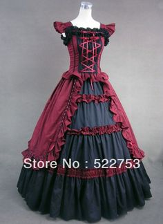 Free shipping!!!2013 New design Custom Victorian Corset Dress Gothic/Civil War Southern Belle Ball Gown Lolita Palace Costume-in Costumes & ...