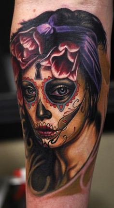 Day of the Dead Tattoo | Concept Behind Creating Day Of The Dead Skull Tattoos Sprang From