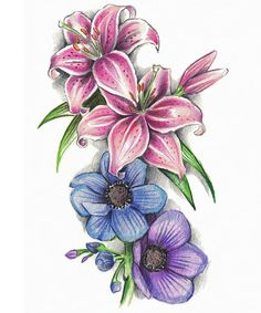 tiger lily tattoo with butterfly and crosses - Yahoo Image Search . Lilly Flower Tattoo, Lilly Tattoo Design, Colorful Flower Tattoo, Lillies Tattoo, Flower Tattoo Drawings, Small Flower Tattoos, Flower Tattoo Arm, Cute Small Tattoos, Flower Tattoo Designs