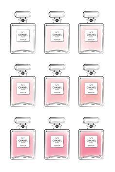 Pink Perfumes - Canvas Print