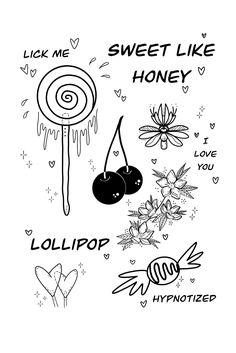 Sweet love stories ❤️ 🍭 Lollipop (if you know it you know it) 🌿 Tattoo Images, Tattoo Photos, Sweet Love Story, Love You, My Love, All Tattoos, Angel Tattoo Men, Lower Back Tattoos, Big Tattoo