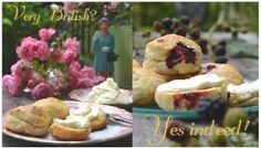 S-Küche: Teatime with Liz - Rosewater and Blackberry Scones with Clotted Cream http://s-kueche.blogspot.de/
