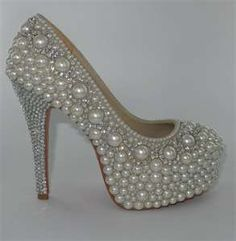PEARL DREAM Platform Pearl & Crystal Shoes