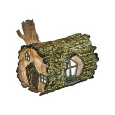 Log Fairy House - Solar Fairy House Lights Up At Dusk: Amazon.co.uk: Lighting