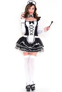 When it comes to Halloween costumes, you won't be disappointed in our sexy french maid uniform costume, which also works as a sexy costume. Find the perfect French maid outfit for you, we even carry a French maid costume in plus sizes. French Maid Halloween, French Maid Costume, Maid Outfit Cosplay, Costumes Sexy Halloween, Cheap Halloween, French Maid Uniform, Fancy Skirts, Fancy Dress, Long Sleeve Outfits
