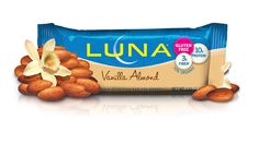 Vanilla Almond - Crunchy, roasted almonds with a touch of creamy vanilla. (P.S. All LUNA Bars are now #glutenfree)