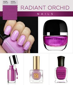 Pantone's Radiant Orchid Beauty Looks For Eyes, Lips and Nails