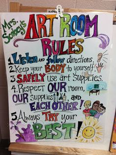 ChumleyScobey Art Room: Welcome Back!  Class Management Ideas!