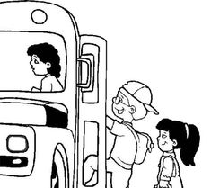 First Day of School, : A Group of Kids Hopping to the School Bus on First Day of School Coloring Page School Coloring Pages, Online Coloring Pages, Color Activities, School Colors, One Day, Coloring For Kids, First Day Of School, Coloring Sheets, English