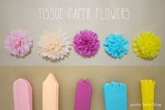 Best 9 The ultimate guide to learn how to make tissue paper flowers. Photo and video tutorial, plus sizing charts, hanging tips and creative ways to use tissue paper flowers! Tissue Flowers, Crepe Paper Flowers, Diy Flowers, Flower Paper, Flowers Decoration, Wedding Flowers, Handmade Flowers, Paper Flowers How To Make, Making Tissue Paper Flowers
