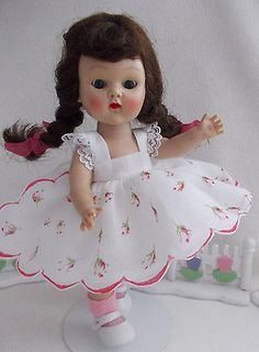 Vogue Ginny  Walker Doll  from 1954 in MINT,Tagged Pink Rosebud Party Dress