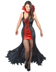 50254cbf9d8e Costume vampiro donna Halloween: Questo costume da vampiro è composto da un  abito e un