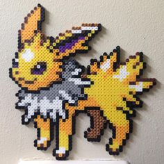 Jolteon Pokemon perler beads by Birdseednerd on DeviantArt
