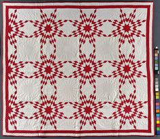 Feather Touching Stars Quilt  Artist unidentified, USA 1850 - 1880