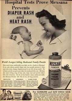 Plough's Mexsana – Hospital Tests Prove Mexsana Prevents Diaper Rash and Heat Rash (1957)