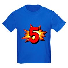 Pow! Happy birthday to the 5 year old! 5th birthday gift for your little superhero.