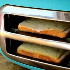 Tilt a toaster on the side to make a quick toasted cheese rather then lighting the grill.  Brilliant!!!!