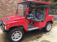 2011 Hummer H3 Golf Cart Red