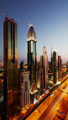 Sundown on the Sheikh Zayed Road, Dubai Best Hotel Deals, Best Hotels, Abu Dhabi, Dubai City, Dubai Uae, Places To Travel, Places To See, Places Around The World, Around The Worlds