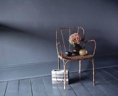 Grey floorboards - Down Pipe by Farrow and Ball