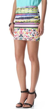 Today's Editor shopping list item #4 - All the best bits of Summer in one neoprene skirt! $185 from Shopbop