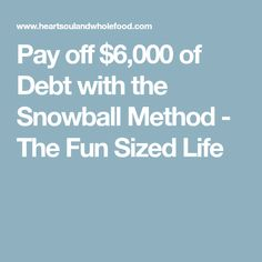 Pay off $6,000 of Debt with the Snowball Method - The Fun Sized Life