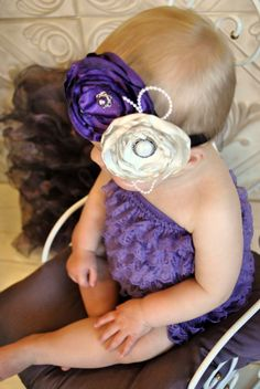 baby romper and free headband with it. so precious..love the ruffles!