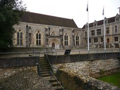 Winchester - The Great Hall, all that remains of the palace which once stood there and was demolished by Oliver Cromwell.