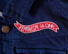 Feminism is Cool Iron-on Embroidered Patch