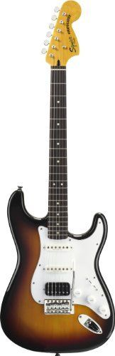 Fender 301215500 Squier VM Stratocaster HSS RW Electric Guitar, 3 Tone Sunburst by Fender. $249.99. With great sound, great feel and great value, Squier's Vintage Modified Stratocaster HSS comes roaring back with all-new features including a vintage-tint gloss neck, '70s-style large headstock, powerful humbucking bridge-pickup tone and a striking new Charcoal Frost Metallic finish option in addition to timelessly cool Black and Three-color Sunburst. Other features i...