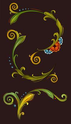 Boat Painting, Fabric Painting, Folk Art Flowers, Flower Art, Rosemaling Pattern, Norwegian Rosemaling, Background Drawing, Scandinavian Folk Art, Boat Art