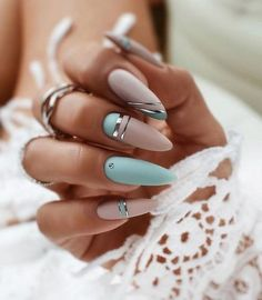 Summer Acrylic Nails, Best Acrylic Nails, Bling Acrylic Nails, Cute Nails, Pretty Nails, Cute Nail Colors, Hair And Nails, My Nails, Bright Nails
