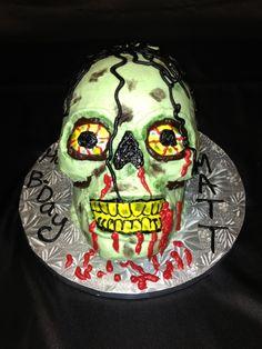 Walking Dead Zombie Cake