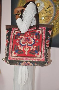 Hmong Ethnic handmade bag vintage thailand Embroidery purse | orientthaiexports - Bags & Purses on ArtFire Embroidery Purse, Hippie Baby, Northern Thailand, Thai Style, Handmade Bags, Ibiza, Diaper Bag, Purses And Bags, Whimsical
