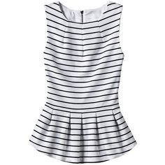 Mossimo Women's Sleeveless Peplum Top Assorted Colors ($23) ❤ liked on Polyvore