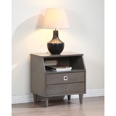 Marley 2-drawer Nightstand | Overstock™ Shopping - Great Deals on Nightstands Why does it have to be grey??