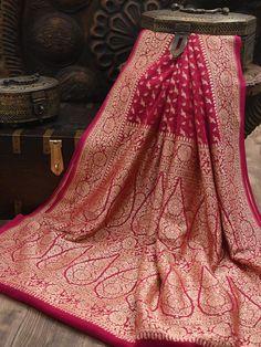 Banaras Sarees, Handloom Saree, Silk Sarees, Saris, Red Saree Wedding, Bridal Silk Saree, Fancy Sarees Party Wear, Designer Party Wear Dresses, Weave Shop