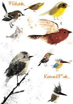 Kenard Pak Illustrations for Disney, Dreamworks and Books Cute Animal Illustration, Illustration Art, Animal Drawings, Drawing Animals, Colorful Animals, Nature Prints, Disney And Dreamworks, Cartoon Styles, Bird Art