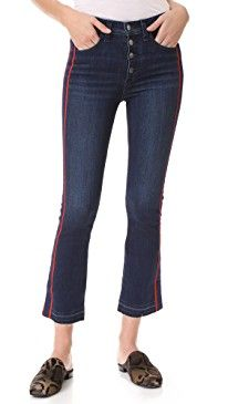 New Veronica Beard Jean Carolyn Jeans with Tux Stripe online. Enjoy the absolute best in Petersyn Clothing from top store. Sku pknl36761xqdg24351
