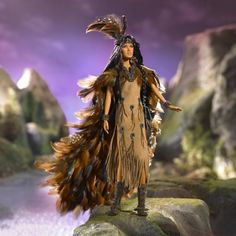 Wind Rider 2006 Barbie Doll (cgi.ebay.fr/...) - $574.99 #indian #native #american #feather #traditional #doll #barbie #ethnic #beautiful