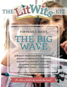 Free activity template  + all kinds of sensory, unique teaching ideas & materials for THE BIG WAVE by Pearl S. Buck at https://litwits.com/the-big-wave/ .
