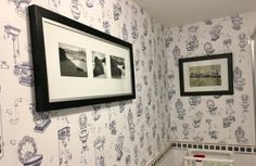 """A nostalgic look back to elegant toilet arrangements of days gone by - who doesn't love their own """"throne""""? A unique wallpaper which will. Wallpaper Toilet, Funky Wallpaper, Unique Wallpaper, Wallpaper Samples, Pattern Wallpaper, Basic Colors, Colours, Heaven Wallpaper, Downstairs Toilet"""