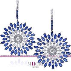 Miiori New York Sapphire and Diamond Earrings