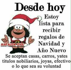 Christmas Carol, Christmas And New Year, Christmas Humor, Christmas Greetings, Christmas Tree, Spanish Memes, Spanish Quotes, Meme Generation, Mafalda Quotes