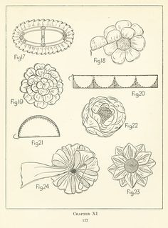 Rosettes from old millinery book:  Anslow, Florence/Practical millinery 1922