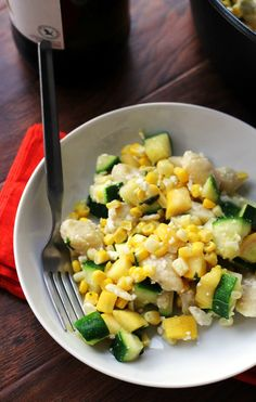 30 minutes are all you need to get a bowl of gnocchi with summer squash, corn, basil, and feta on the table! It's a great easy weeknight meal that even the pickiest eaters will love.