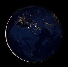 #NASA night time marble  #space