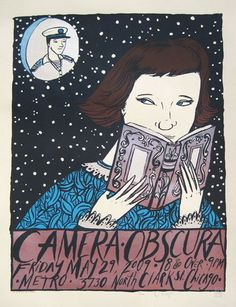 Camera Obscura Concert Poster By Diana Sudyka